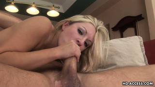 Kylie reese makes a mess of this blow job and has to wipe off cum
