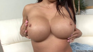 Mia lelani deep throats cock and swallows cum load