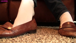 Caroline brown loafer shoes white socks shoeplay preview