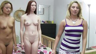 Two hot sluts getting humiliated by a college roomie