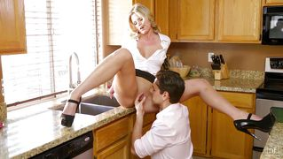 Amazing sex in the kitchen
