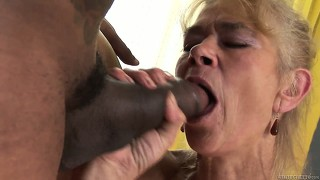 Nasty grandma takes a pounding from a hung nigger?s hard dong