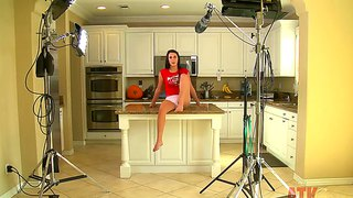 Cute alannah monroe interview in the kitchen