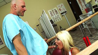 Johnny sins gets his cock sucked off by a sexy blond nurse