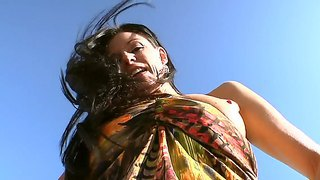 India summer pefers to show her awesome body in various places and hang out with black guys