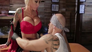 Tattooed lolly in getting pussy fucked after sucking