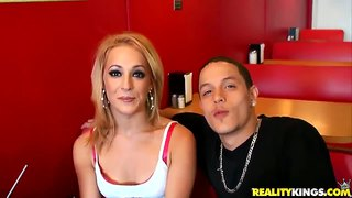 Beautiful and exciting blonde linda sky goes for a ride with me