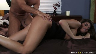 Big tit brunette  madelyn marie rammed hard in her tight twat