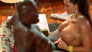Interracial wild fuck with busty bitch lisa ann and her black friend