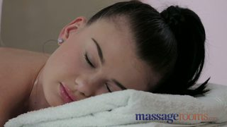 Massage rooms cute teen with big natural boobs gets messy