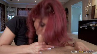 Ryder skye is a sex obsessed red-haired mommy that seduces her daughter's boyfriend with ease. she pulls out her massive boobs and gives great titjob after sucking his beefy stiff cock.