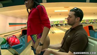 Bella and jayla foxx enjoy a kinky bowling game