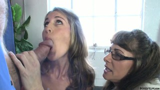 Mum and daughter alexandra silk and kara sharing a huge hard cock
