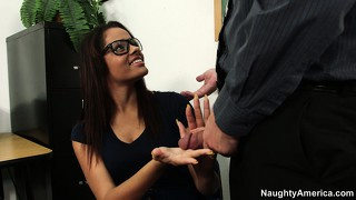 Excellent teacher aria arial earns the right to suck on that fucker