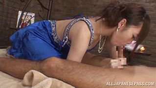 Kinky nippon lady fucks like a whore in bed