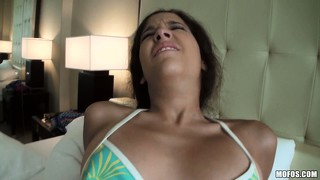 Sexy bitch with a nice big booty gets fucked hard in a pov movie
