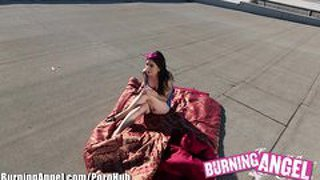 Burning angel rooftop pov joanna angel solo masturbation