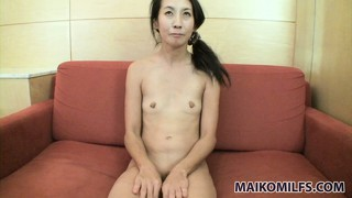 Asian slut spreads her legs and lets him finger and vibe her hairy bush