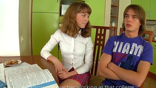 Sexy innocent gerda turns a studying session into a make out and fuck session