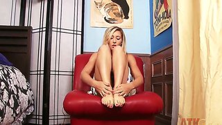 Lilly banks doing some harcore masturbation of her pussy with her fingers