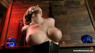Busty american wife tied up and humiliated by her husband.