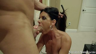 India summer is a skinny milf with small tits that spreads her long legs for her friend's husband and gets her vagina filled with cock. he bangs gorgeous milf india summer like there's no tomorrow.