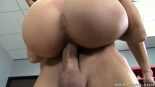 She enjoys a great stand up fuck and relishes the taste of her pussy on his cock