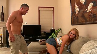 Mick blue fucks krissy lynn's fat ass, hard