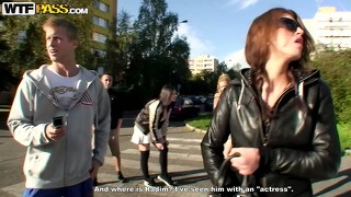 Horny young czech boys and girls head to the store to get booze for the party