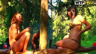 Enjoy outdoor group sex with amazing olympia, roxi and veronica