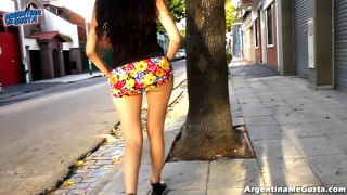 Kameeltoon, Amateur, Upskirt, Publiek, Wit