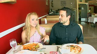 Pale blonde babe lexi belle has fun with her boy