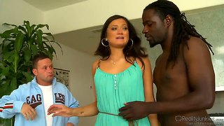 Hubby watches his wife cece stone blow a black dude
