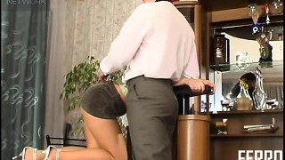 Pretty brunette with sexy long legs and a superb ass amelia is on the prowl for action
