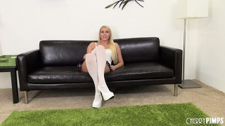 Vanessa cage spreads her hot body all over the room eager to satisfy her desires