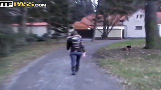 Best amateur sex during and after a short walk