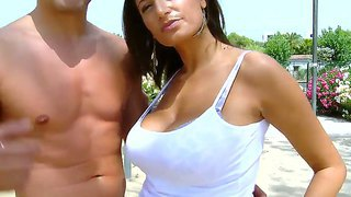 Hot latina sensual jane rubs her big delicious boobs and puts on an amazing show