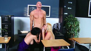 Johnny sins gets punished by horny school teachers