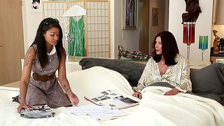 Two sympathetic redhead and brunette whores magdalene st. michaels and skin diamond talk