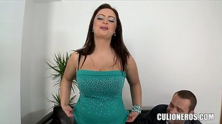 Big ass busty brunette sirale have dirty interview