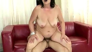Granny, Oral, Hardcore, Schwanz, Pussy