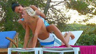 Adria and megana simply love to have long summer outdoor fuck sessions