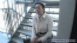 Naughty japanese wife gets kinky during a hardcore interview