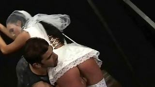Hot bride gets bondaged and fucked