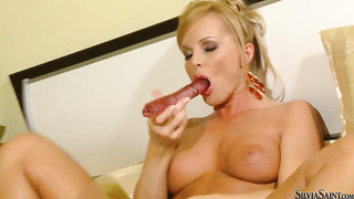 Silvia saint touches her moist cunt after posing naked