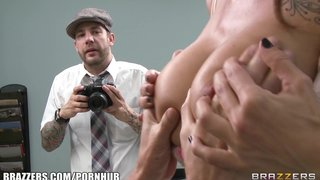 Brazzers - office harassment training turns titty fucking & bj session
