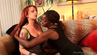 Interracial lesbian confessions always lead to a hardcore sex.