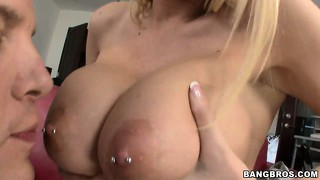 His big young stick is about to invade her tight milf ass, but first a blowjob