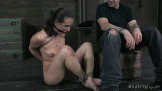 Ball gaged whore needs a discipline