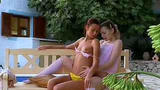 Ivana and natasha make out on the front porch and enjoy